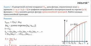 Понятие определённого интеграла