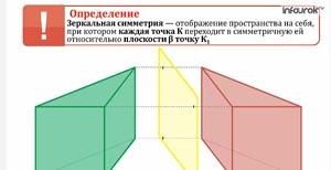 Движения. Зеркальная симметрия