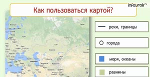Карта. Полушария