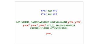 Функция y=x2. Степенная функция с четным показателем