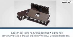 Электрический ток через контакт полупроводников р- и n-типов